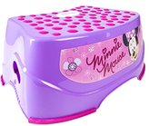"""Ginsey Children's Disney Character Minnie Mouse Step N Glow Step Stool - Durable Construction - Non-Slip Surface and Feet - Lightweight - 14"""" x 10"""" x 5"""""""