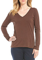 Pendleton Long Sleeve V-Neck Pima Cotton Knit Tee