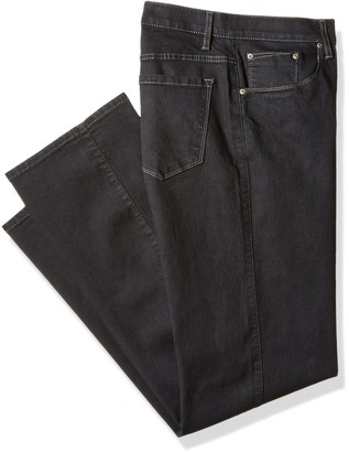 Savane Men's Big and Tall Flat Front Active Flex Stretch Denim