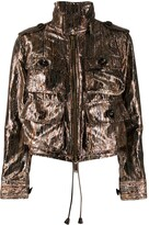 DSQUARED2 metallic lurex utility jacket