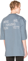 Vetements Football Shoulder Tee Shirt Are We Having Fun Yet