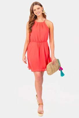 francesca's Flawless Solid Dress in Pink - Pink