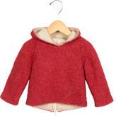 Oeuf Girls' Alpaca Hooded Jacket