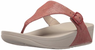 FitFlop Women's The Skinny Lizard Print Flip Flop