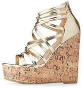 Charlotte Russe Strappy Cork Wedge Sandals
