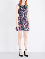 Saloni Celia floral-print silk mini dress