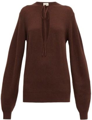KHAITE Emma Cashmere-blend Sweater - Womens - Brown