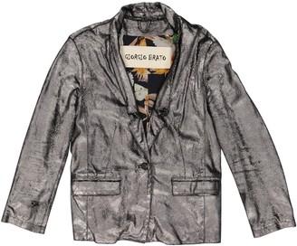Giorgio Brato Metallic Suede Jackets