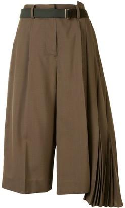 Sacai Pleated Cropped Culottes