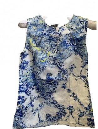 Erdem Blue Cotton Top for Women