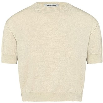 Theavant Short-Sleeve Off-White Merino Sweater