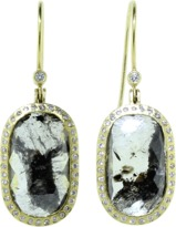 Todd Reed Black Fancy Diamond Drop Earrings