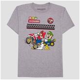 Super Mario Boys' Mario Kart Race Crew T-Shirt - Athletic Heather