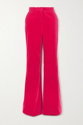 Bella Freud David Cotton-velvet Wide-leg Pants - Pink