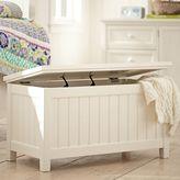 Beadboard End Of Bed Trunk, PBTeen White