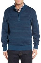 Cutter & Buck Men's Big & Tall 'Douglas Forest' Jacquard Wool Blend Sweater