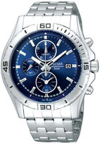 Pulsar Mens Stainless Steel Blue Chronograph Watch PF8397