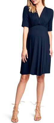 Maternal America Empire Waist Stretch Maternity Dress