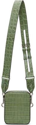 Byredo Green Croc Small Focus Messenger Bag