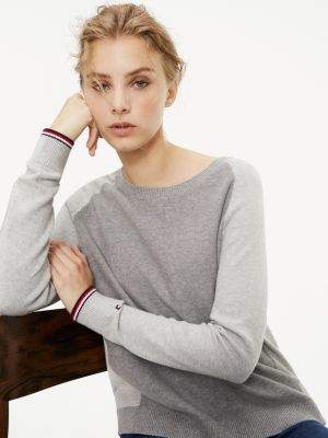 Tommy Hilfiger Colour-Blocked Organic Cotton Jumper