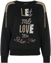 Philipp Plein stud embellished sweatshirt