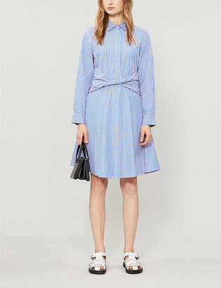 Claudie Pierlot Rayone striped cotton mini dress