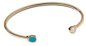 Nadri 18K Gold-Plated Cubic Zirconia & Stone Flex Cuff Bracelet