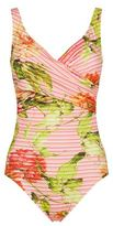 Maryan Mehlhorn Floral Crossover Swimsuit