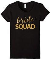Women's Bride Squad - Golden Sequins Bachelorette Party Shirts