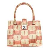 Salvatore Ferragamo Orange Leather Handbag