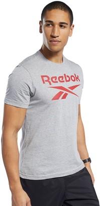 Reebok Men's Stacked Logo Tee
