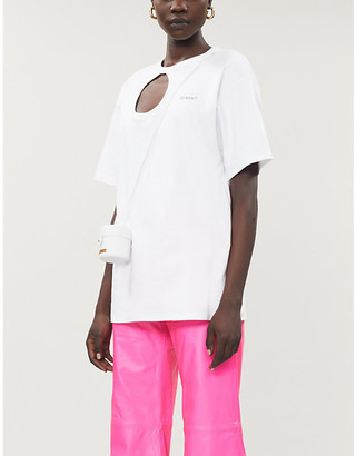 Off-White Meteor Tomboy brand-print cotton-jersey T-shirt