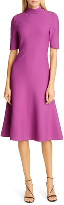 St. John Sculpted Milano Knit Knee Length Dress