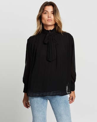 Mng Women's Black Shirts & Blouses - Rina Blouse - Size XS at The Iconic