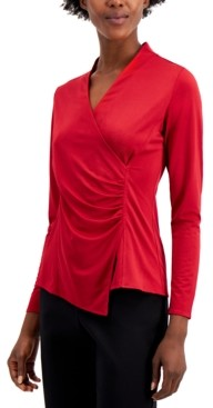 Alfani Wrap-Style Top, Created for Macy's