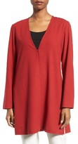 Eileen Fisher Women's Silk V-Neck Long Jacket