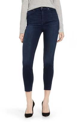 7 For All Mankind Cutoff Hem Ankle Skinny Jeans