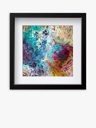 YARDART - Helen Lynch 'Perfect Dream' Outdoor Framed Print, 67 x 67cm, Blue/Multi