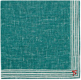 Isaia Men's Striped-Border Cotton-Linen Pocket Square