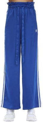 adidas High Waist Satin Jersey Track Pants
