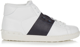 Valentino Two-tone high-top leather trainers