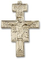 Blissliving Home San Damiano 14K Rosary Crucifix