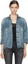 R 13 Blue Denim Oversized Trucker Jacket
