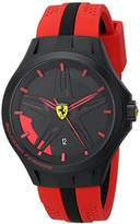 Ferrari Men's 0830159 Lap-Time Black and Red Watch
