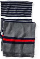 Classic Men's Fashion Knit Scarf-Black Birdseye
