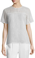 Jason Wu Short-Sleeve Corded-Lace T-Shirt, Chalk