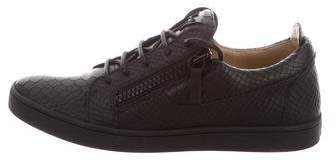 Giuseppe Zanotti Embossed Low-Top Sneakers w/ Tags