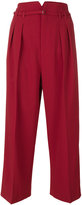 RED Valentino cropped wide leg trousers - women - Polyester/Spandex/Elastane/Acetate/Viscose - 38