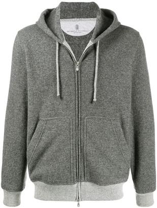 Brunello Cucinelli Knitted Zip-Up Hoodie