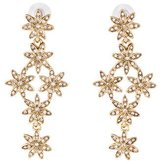 Oscar de la Renta Crystal Floral Drop Earrings